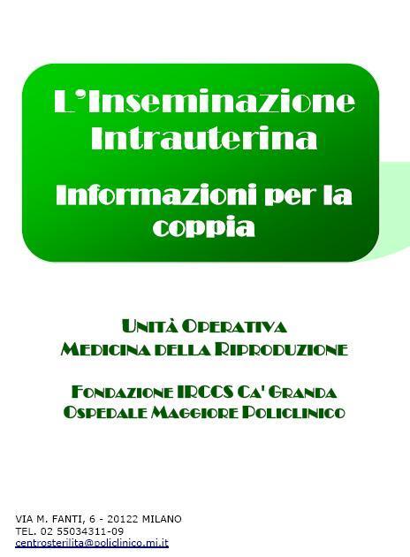 Inseminazione Intrauterina - Informazioni per la coppia